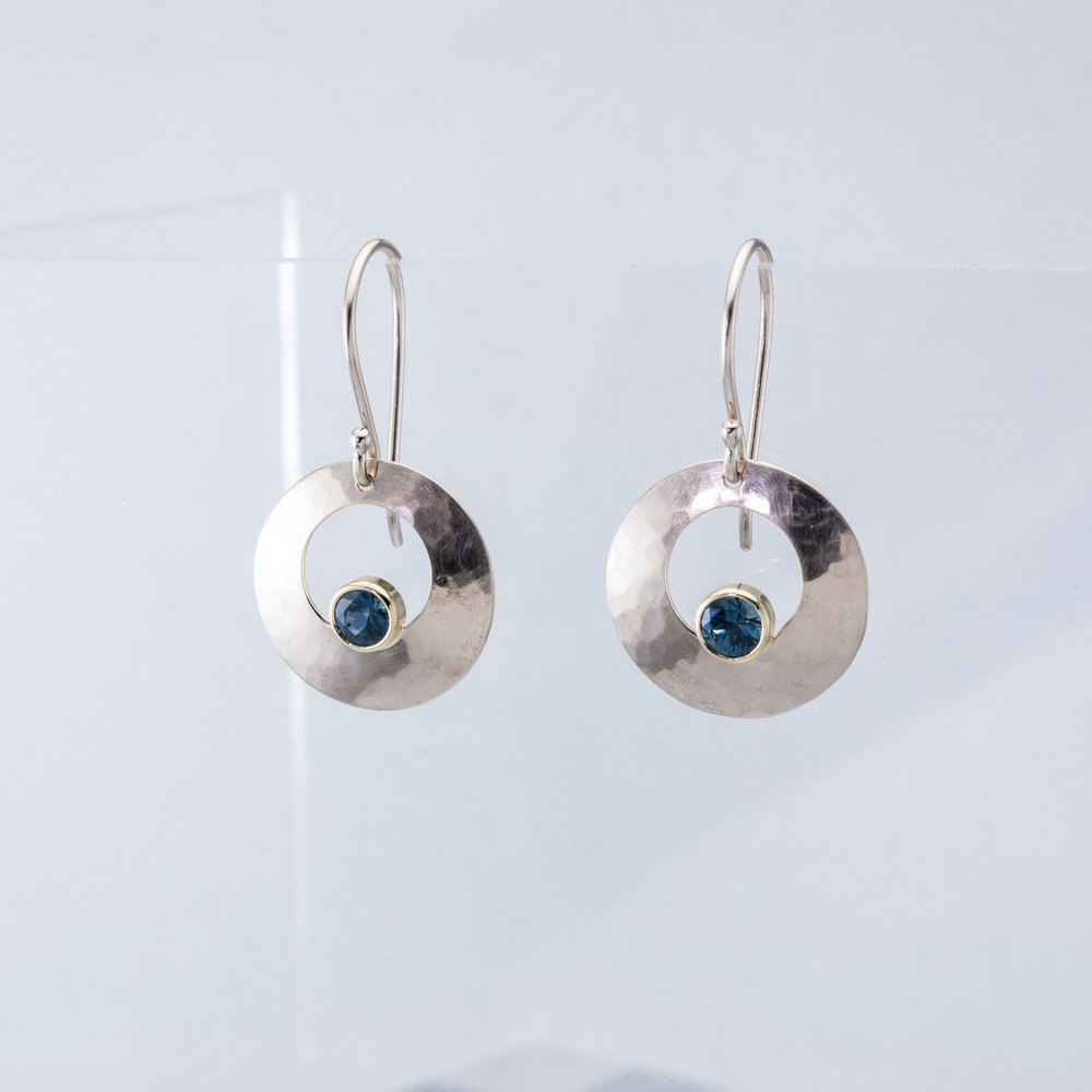 Luna Earrings with Montana Sapphires