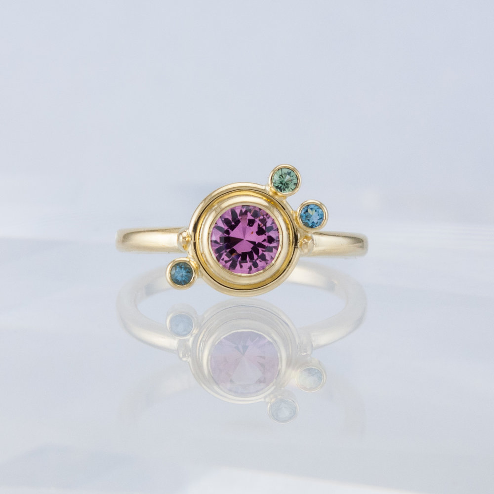 Pink Spinel Ring