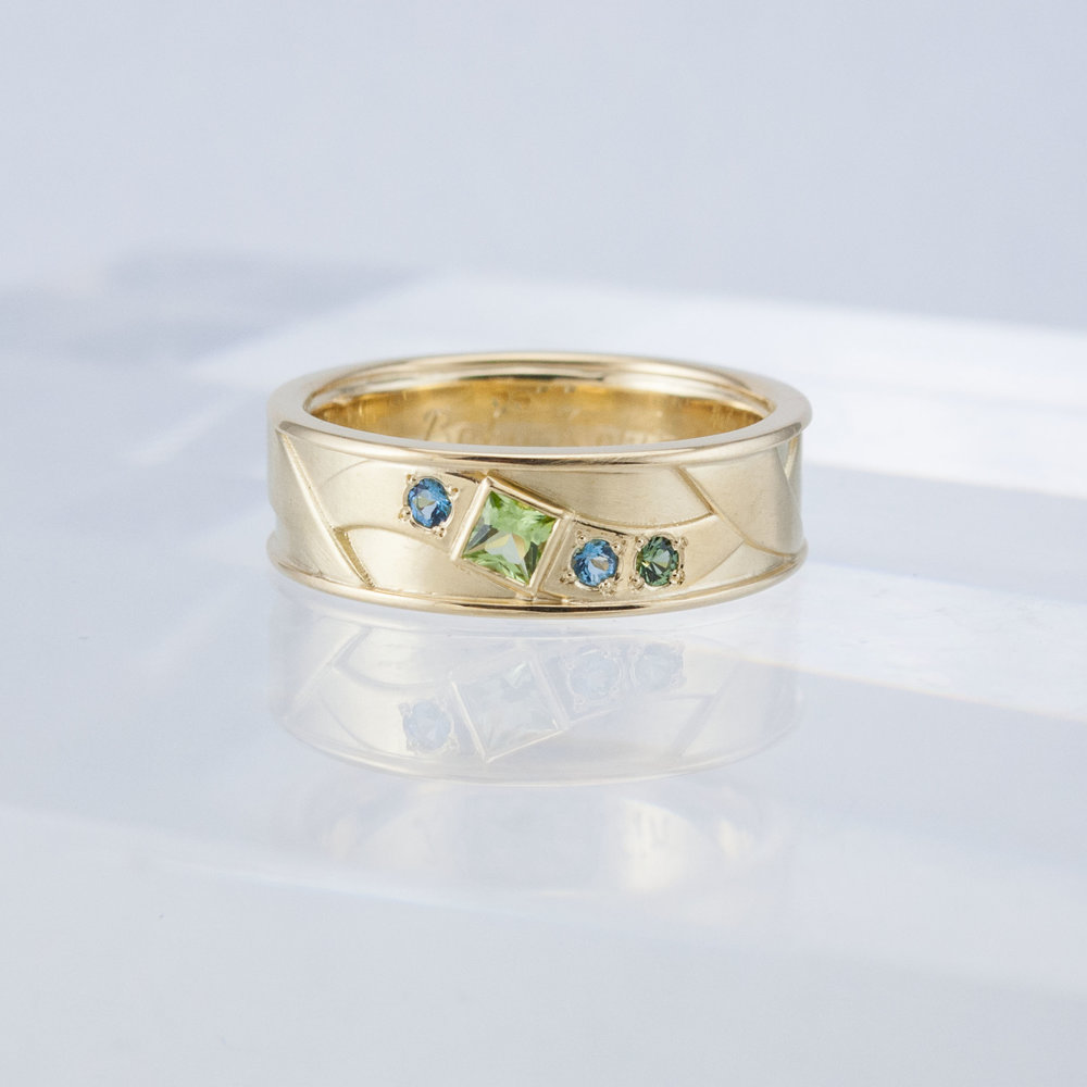 Square Peridot Ring