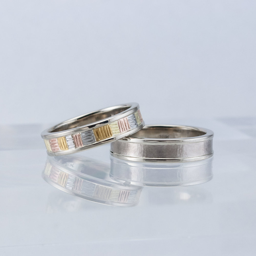Custom White Gold Wedding Bands