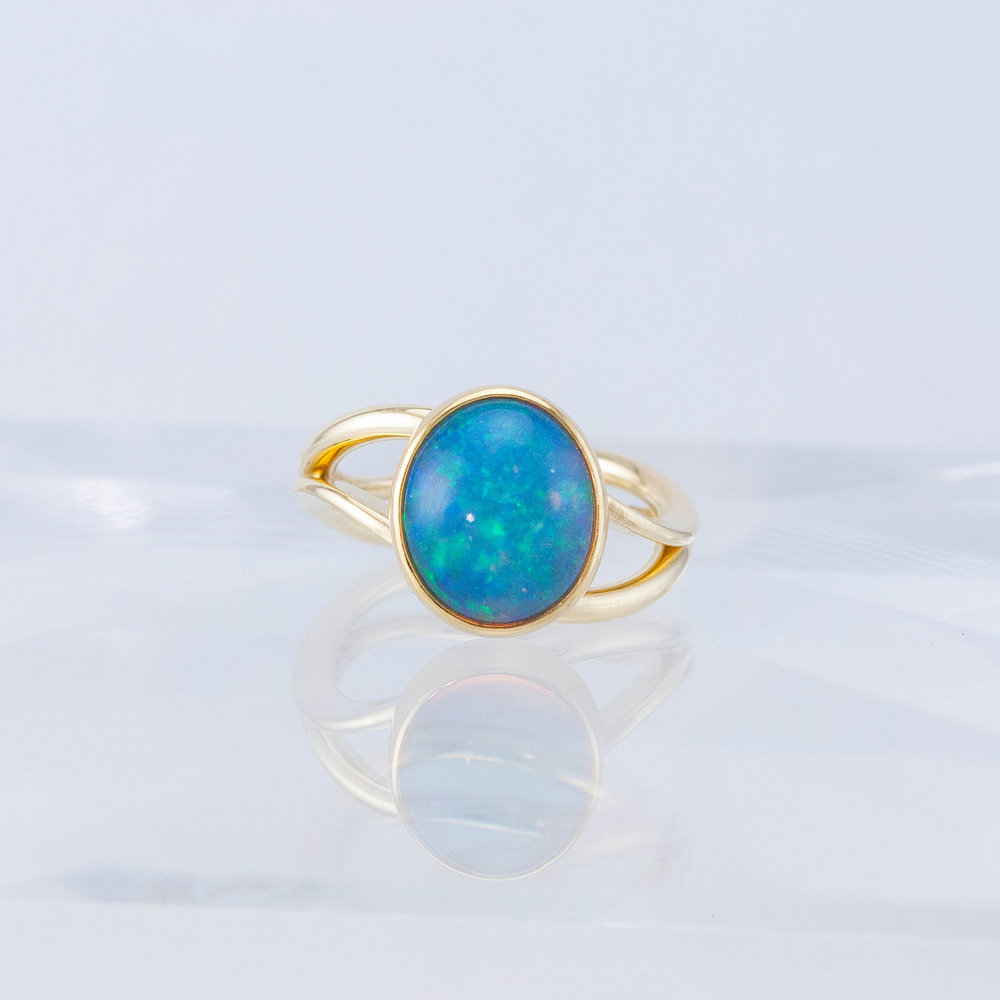Custom Opal Duality Ring