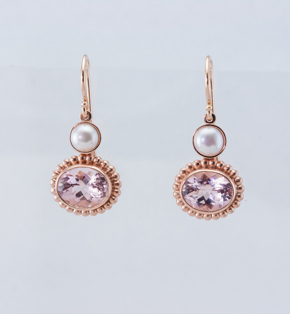 Rose Gold and Morganite Earrings