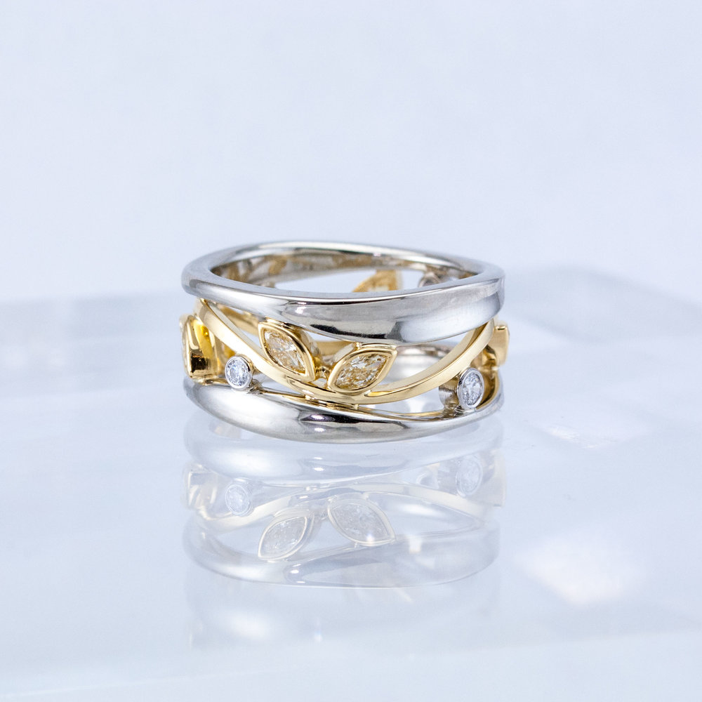 Eternity Constellation Ring with Fancy Diamonds