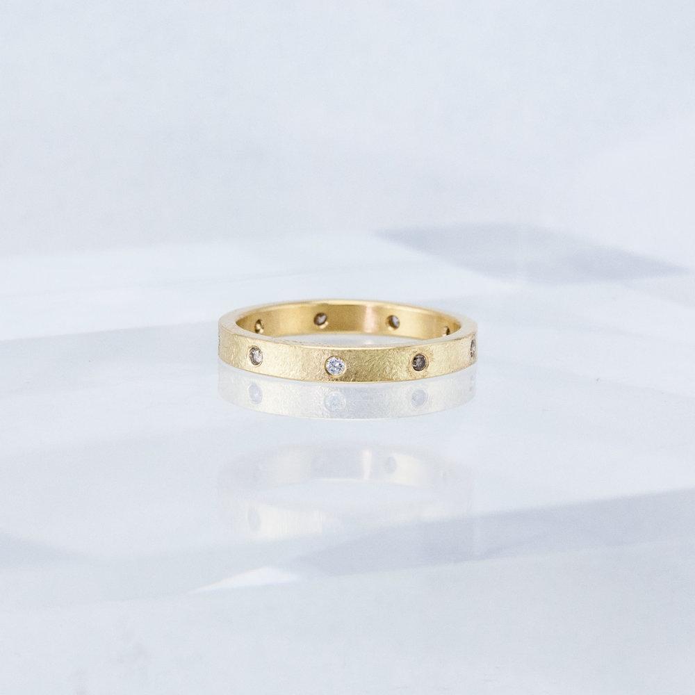 Desert Eternity Ring with Fancy Diamonds