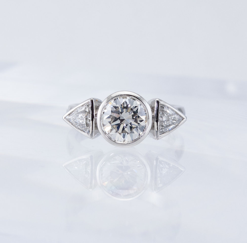 Custom Three Diamond Ring