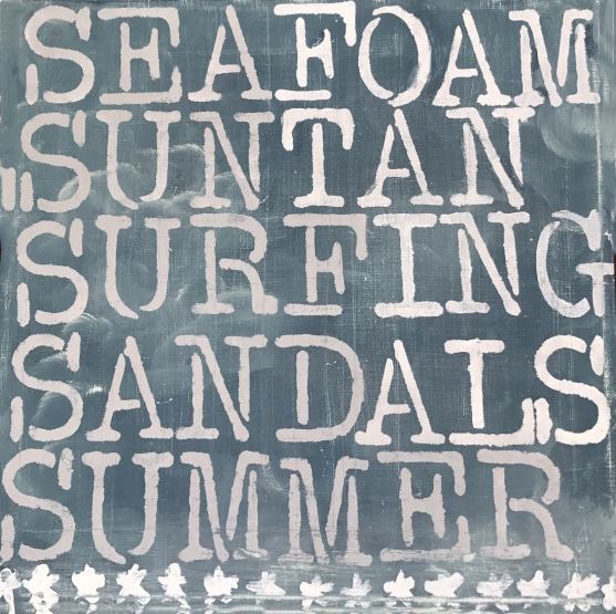 Summer: Seafoam, Suntan, Surfing, Sandals, Summer