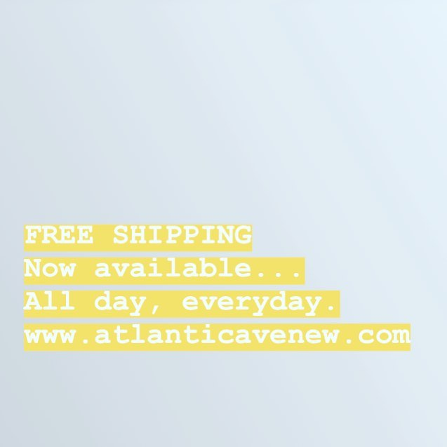 Ask and you shall receive. FREE SHIPPING! All day, every day. Now online at www.atlanticavenew.com with code SPRINGFLING 🎉 #freeshipping #spring #deals #smallbusiness