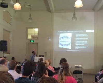 Barry giving his talk at the 2015 Victorian Archaeological Colloquium