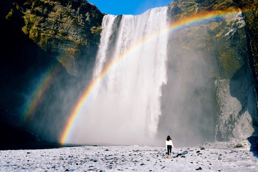 Rainbow over Rangarping, Iceland