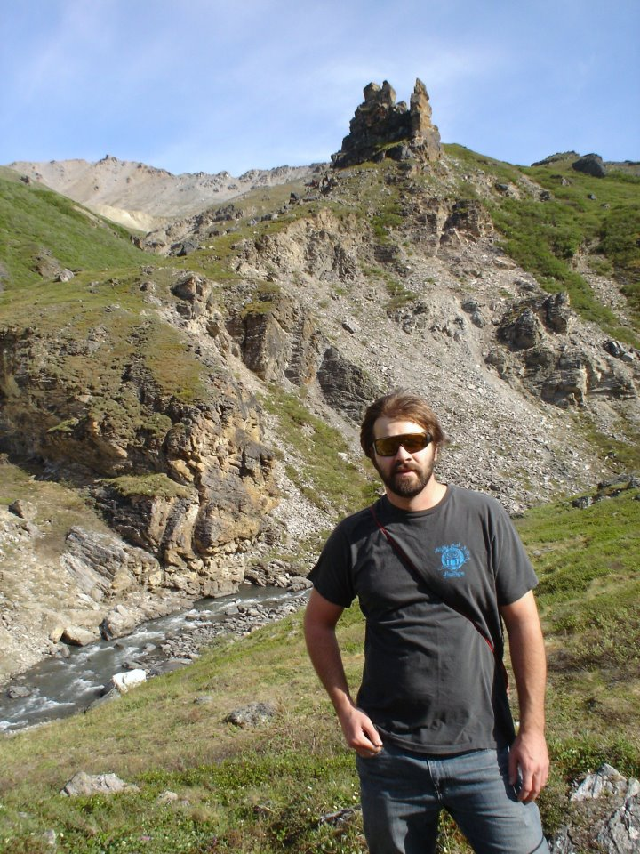Clint hiking Savage River in Denali National Park.