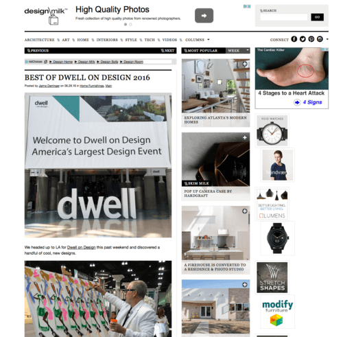 Design Milk June 28, 2016