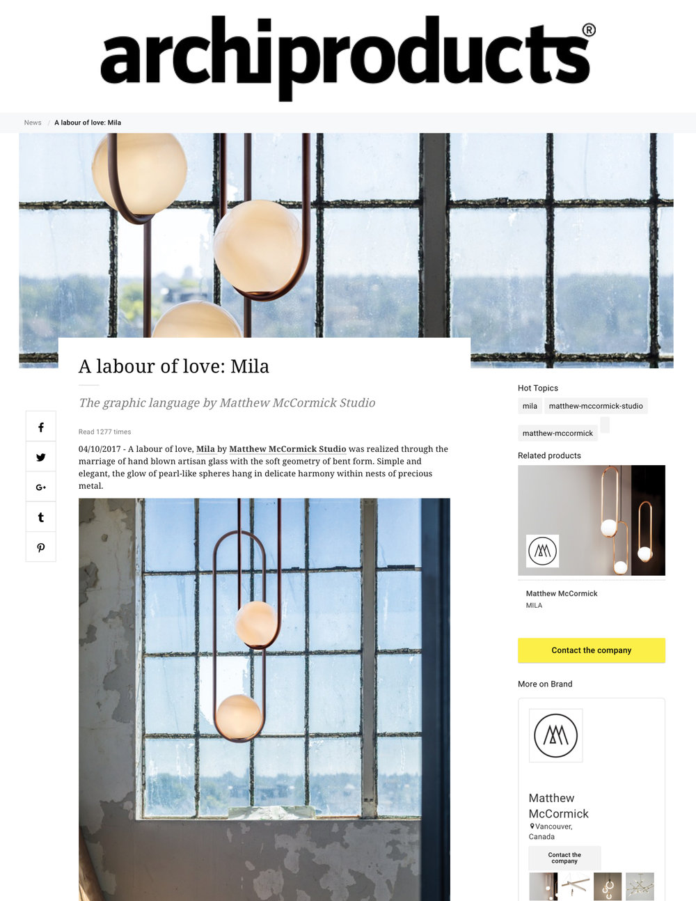 Archiproducts October 10th, 2017