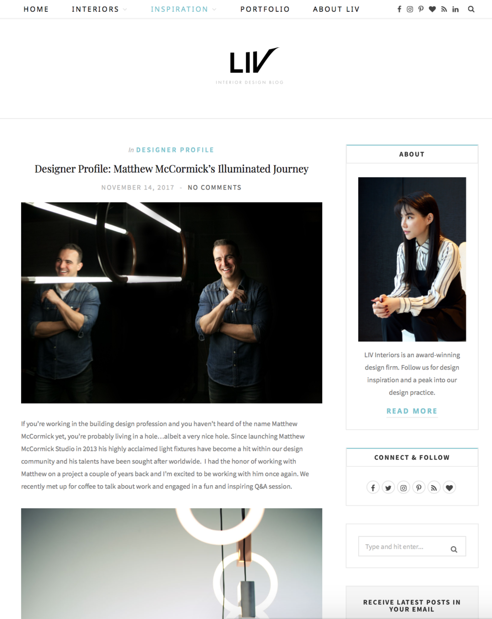 LIV Interior Design Blog November 14, 2017