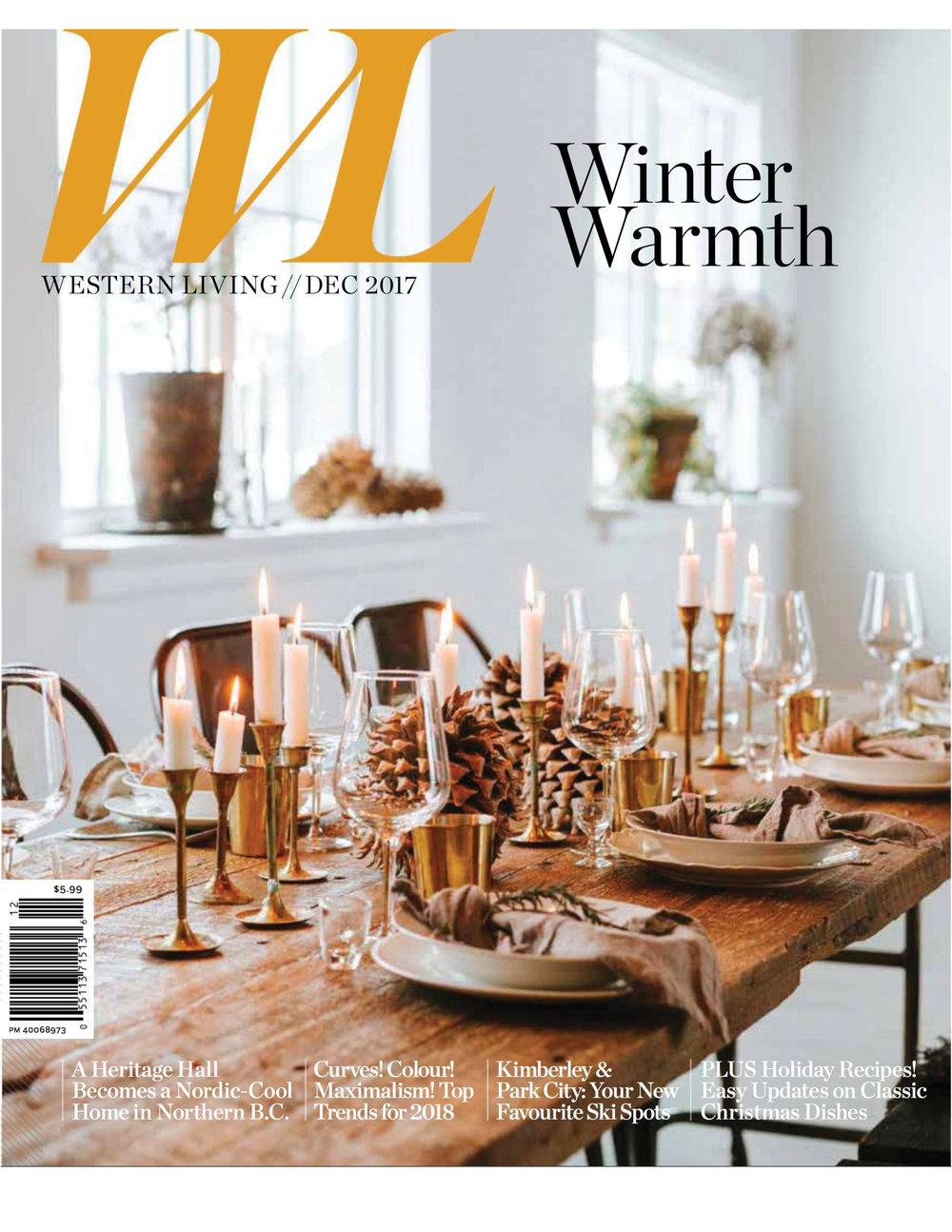 Western Living December 2017
