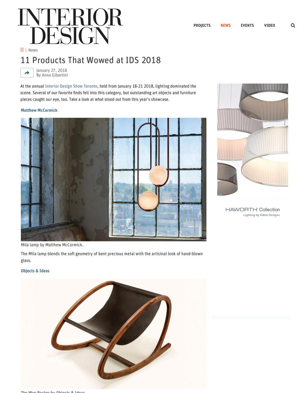 Interior Design January 27, 2018
