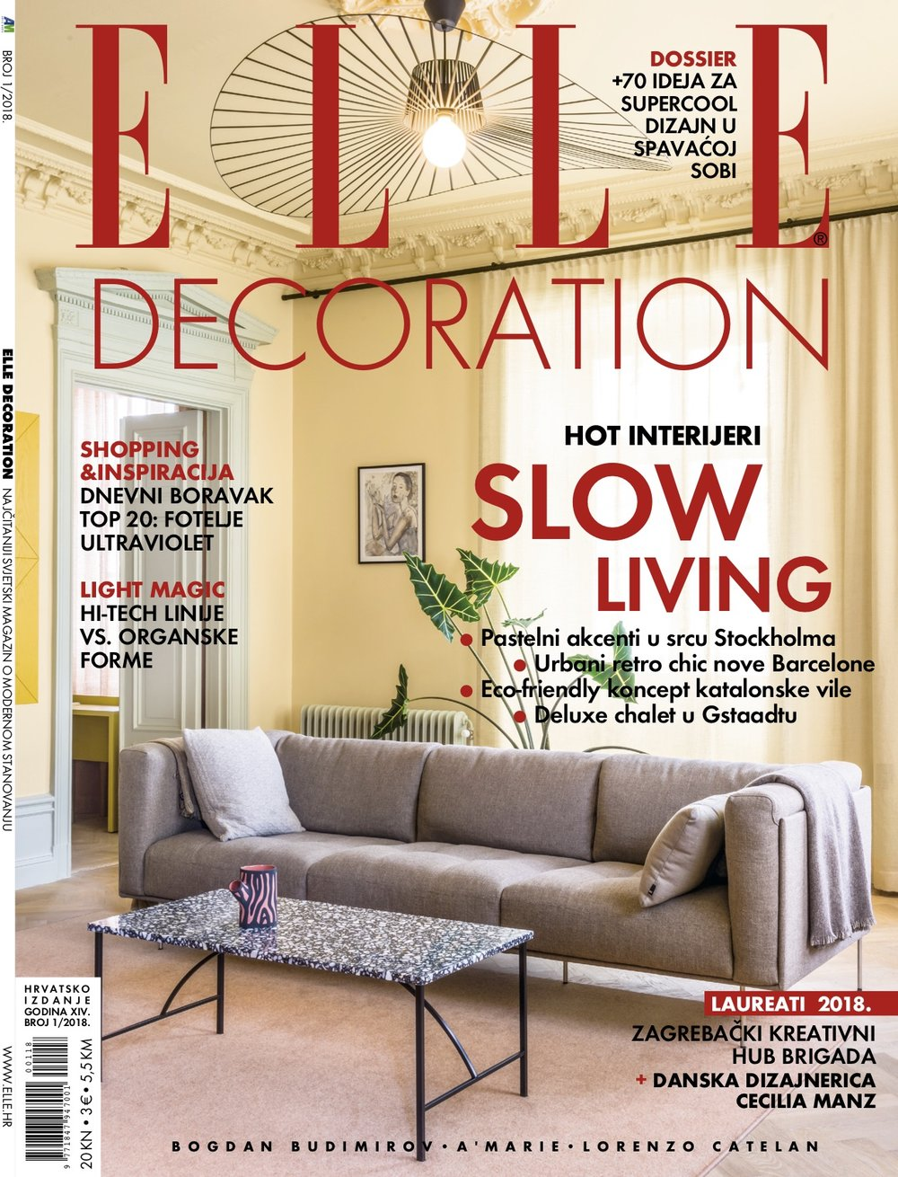 Elle Decoration Croatia March 2018