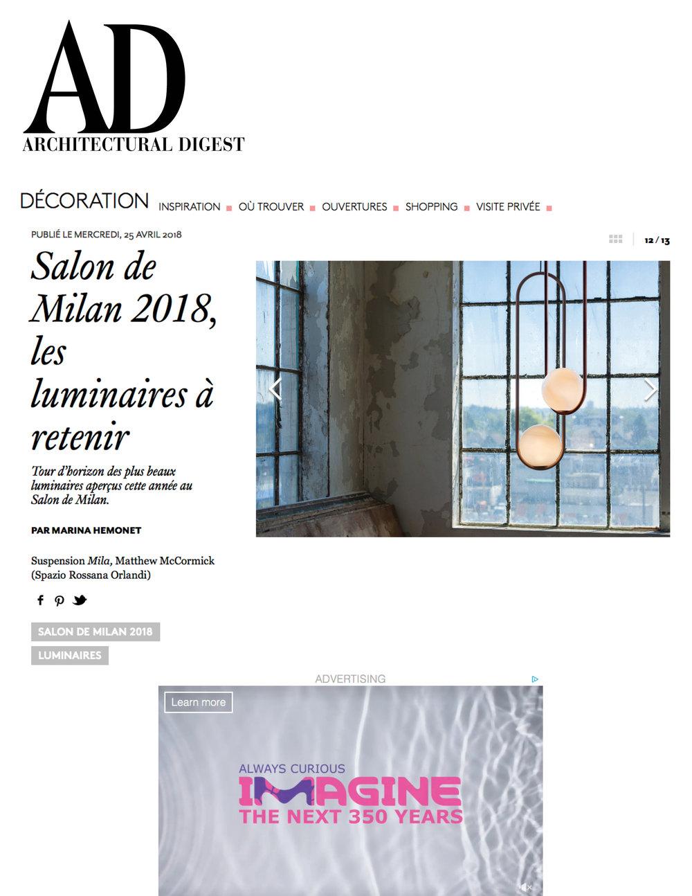 Architectural Digest April 2018