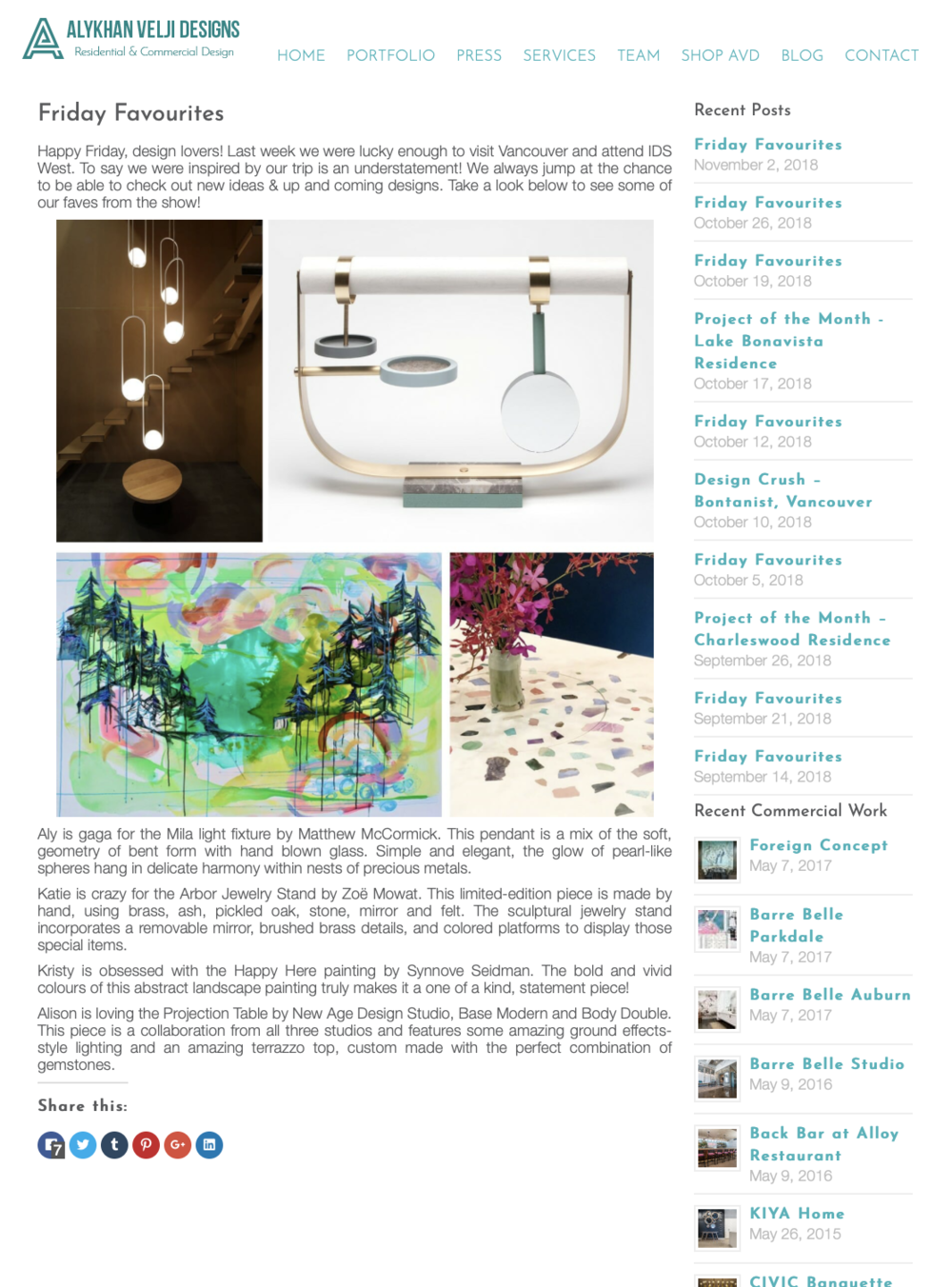Alykhan Velji Design Blog