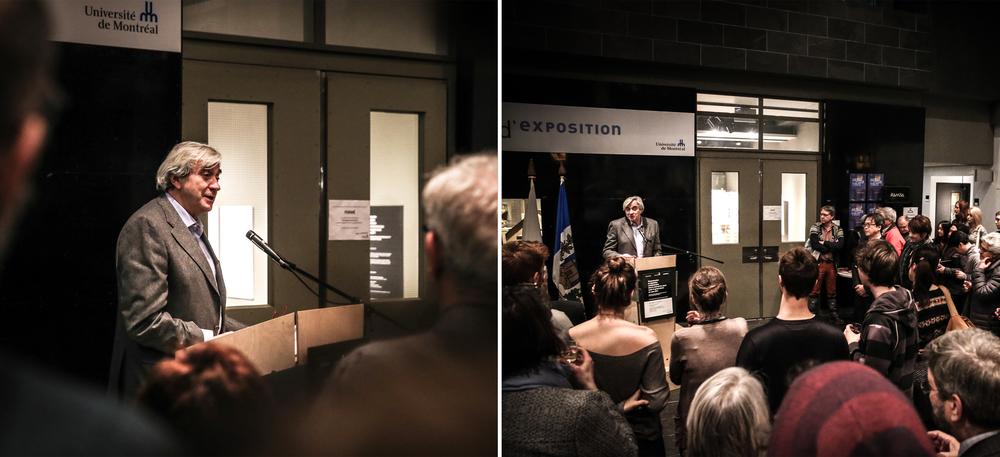Vernissage, Centre d'Exposition de l'Université de Montréal.