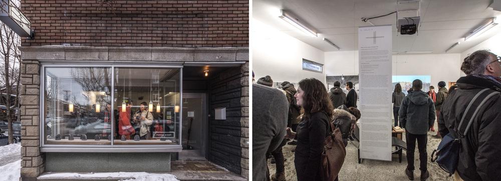 Vernissage de l'exposition Corbusier+50,  Galerie Espace Projet