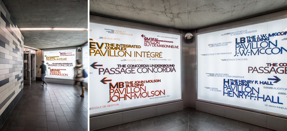 Affichage U. Concordia /  Intégral Jean Beaudoin