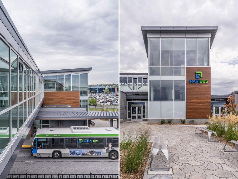 Station Labrosse - Rapibus /  GCBD Architectes  © Raphaël Thibodeau