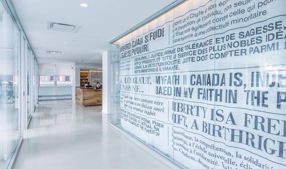 Bureaux de la fondation Pierre Elliott Trudeau / Atelier TAG © Raphaël Thibodeau