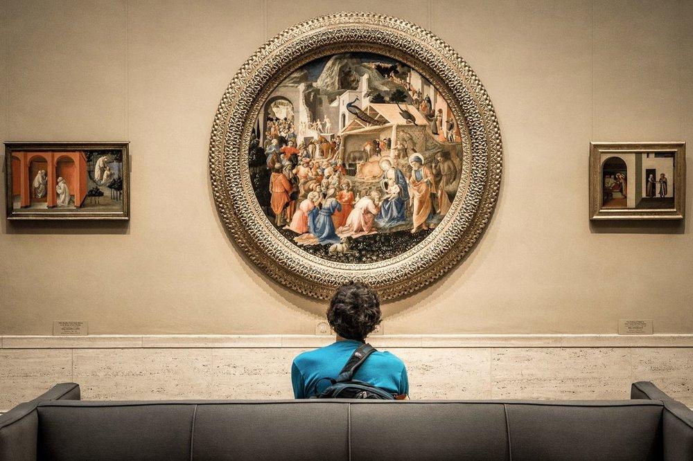 Les touristes / Ce que j'aime visiter dans les musées, ce sont les visiteurs. © Raphaël Thibodeau