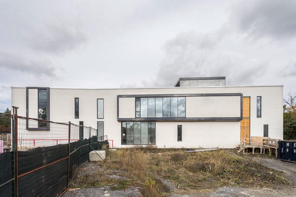 Centre de la jeunesse et la famille Batshaw -  STOA architecture  Documentation chantier - fév. 2016 © Raphaël Thibodeau