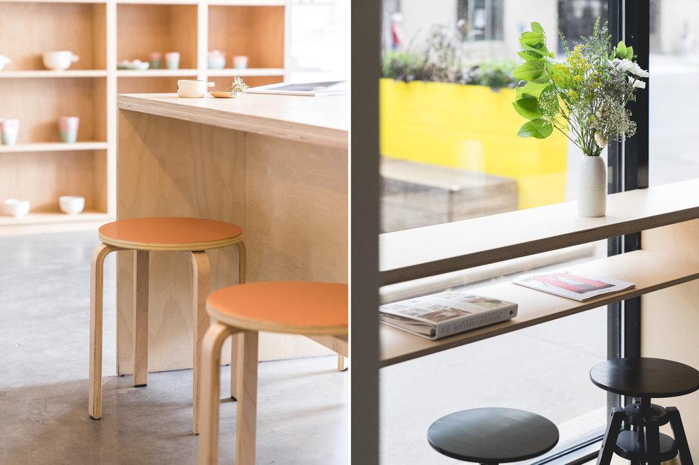 <<<<< BACK   Café Les Faiseurs -  Atelier Catherine Catherine  © Raphaël Thibodeau