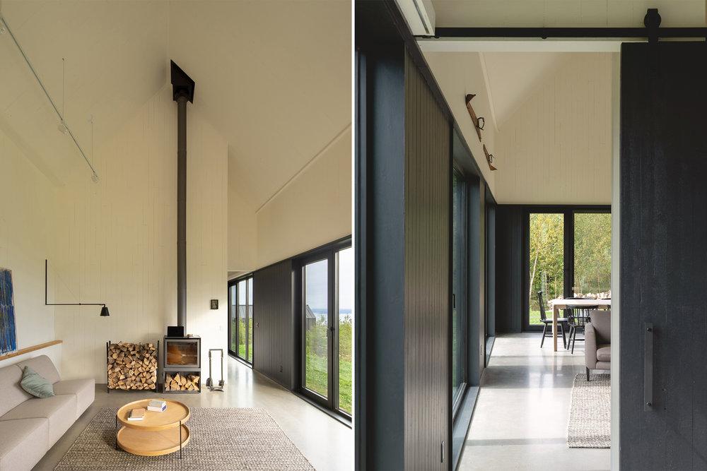 <<<<<  BACK  Les Roquals, par  Alain Carle Architecte  © Raphaël Thibodeau