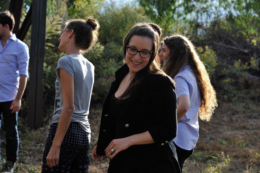 Lauren Cohan Behind the Scenes