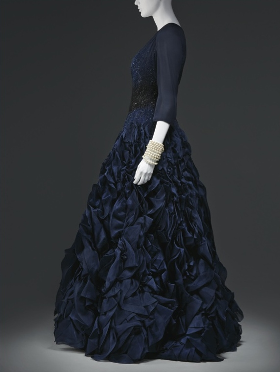 Custom beaded silk evening gown, 2010, worn to the 2010 Met Gala; On loan from Oprah Winfrey, Santa Barbara, Calif.