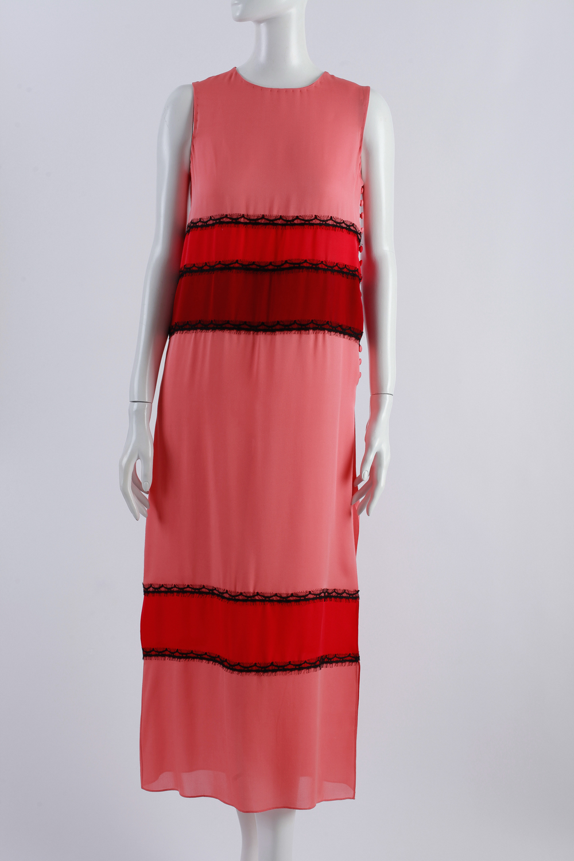 Wes Gordon color-block silk dress.