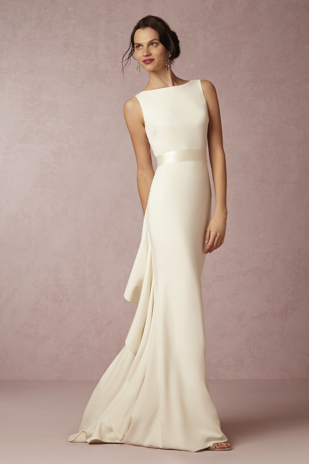 Elegant in its simplicity, this gown is as classy as it is timeless. Valentina Gown; $1,000