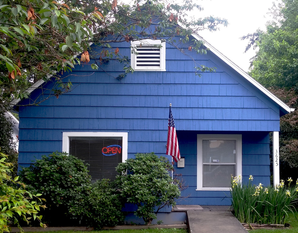 The Little Blue House - Home of The Law Offices of Rick H. Merrill, Everett, Washington State