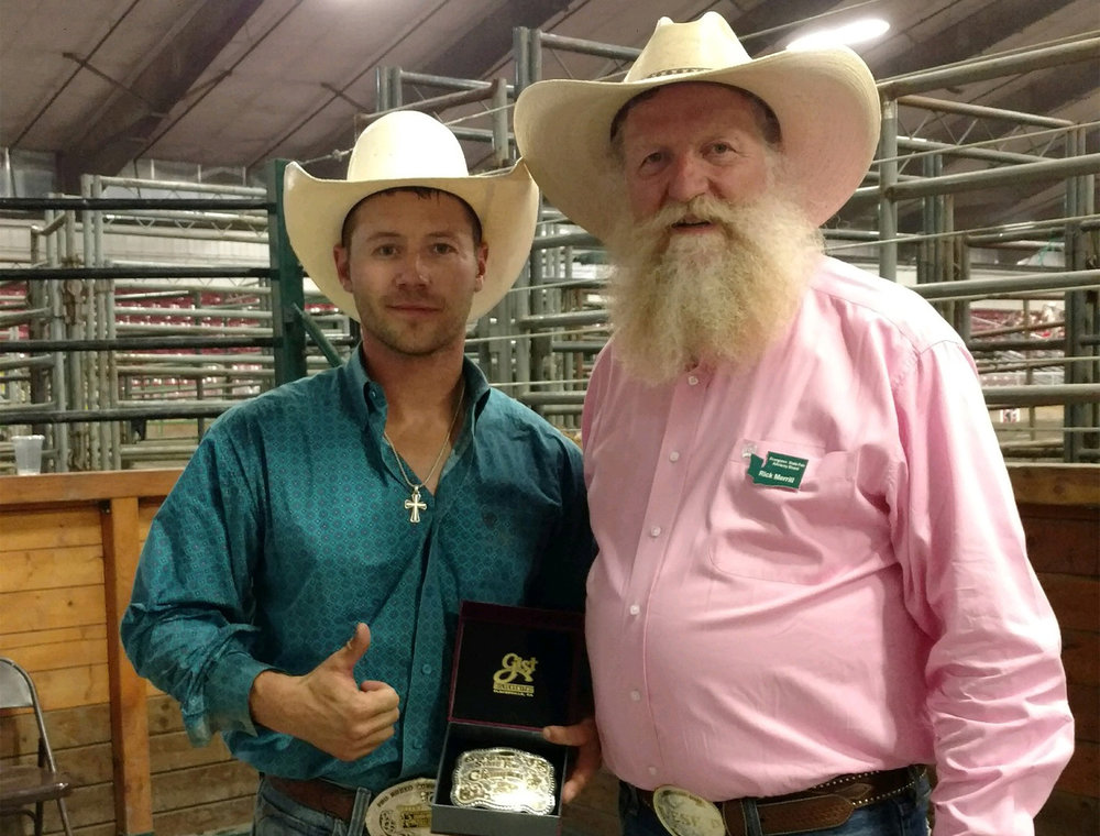 Mike Sparks Winner of the 2017 Evergreen Open Bull Riding Event