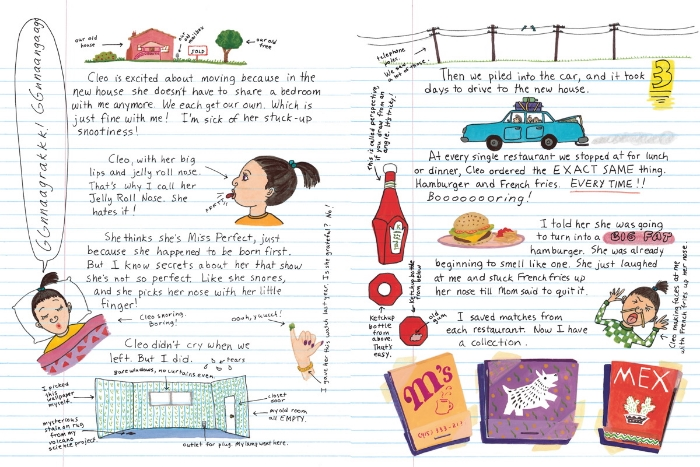 A sample from Amelia's Notebook, from Simon & Schuster's website.