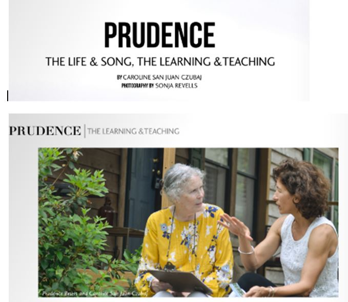 Prudence Farrow Bruns and Caroline San Juan Czubaj