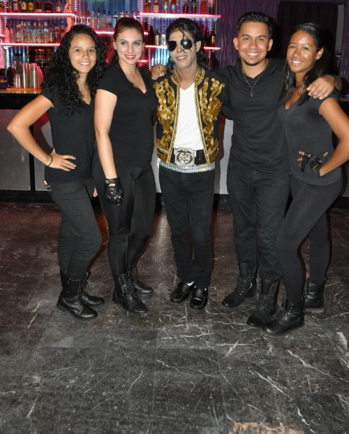 Back Up Dancing for Te'jai Sullivan at Mojitos for                     Michael Jackson Tribute