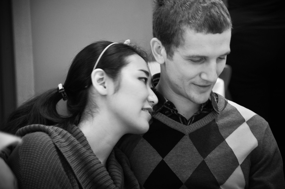 Young couple 2 mixed seated b&w.jpg