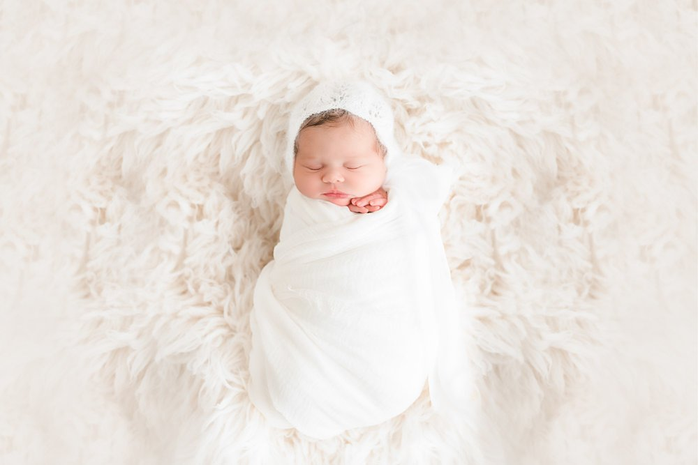 Bethlehem Newborn Photographer White Bonnet