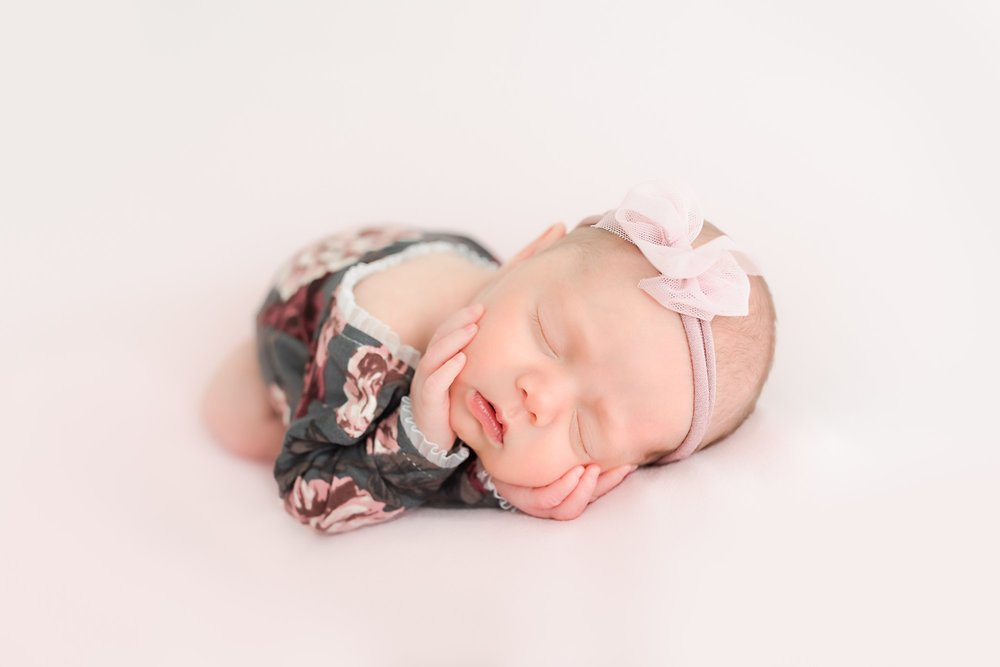 Allentown Baby Photographer Pink Bow