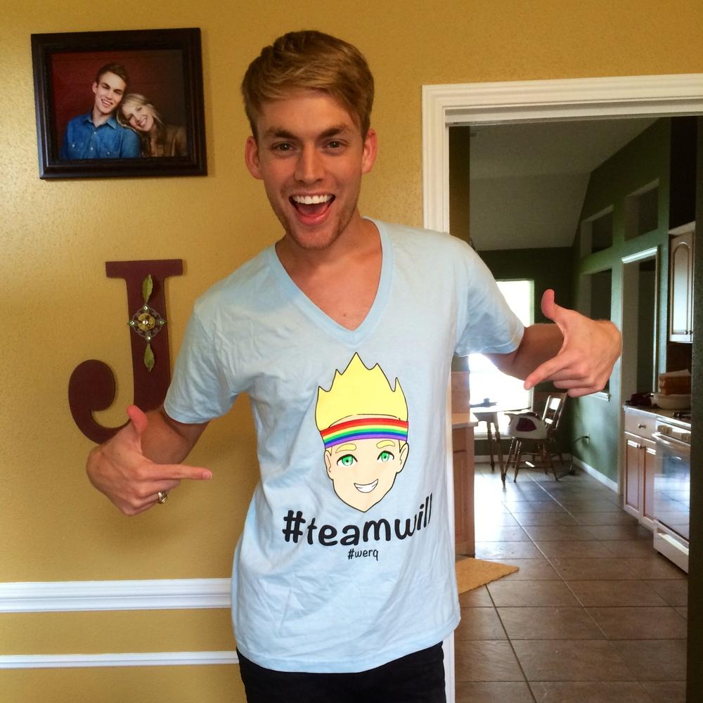 Get a #teamwill shirt!