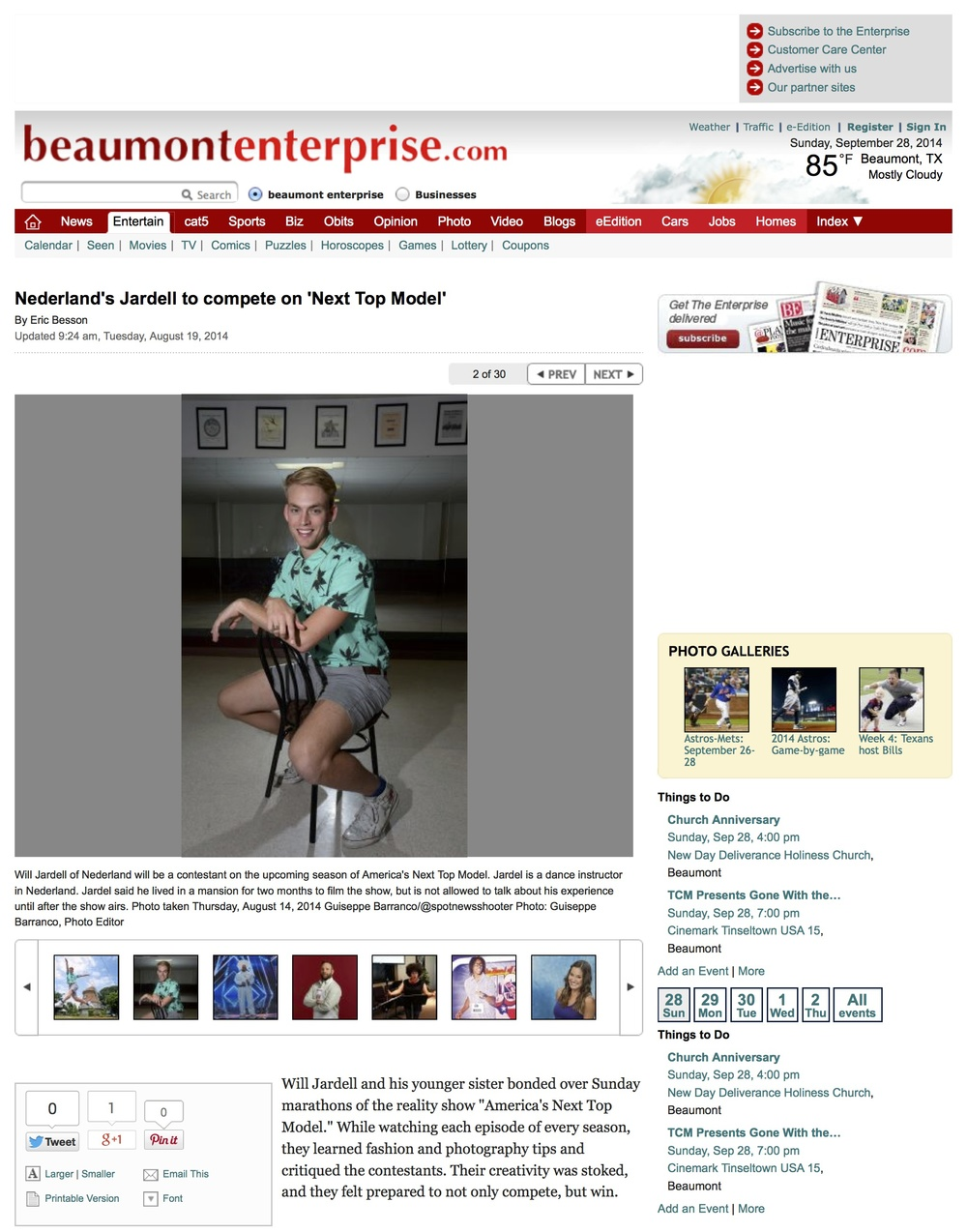 Beaumont Enterprise Interview