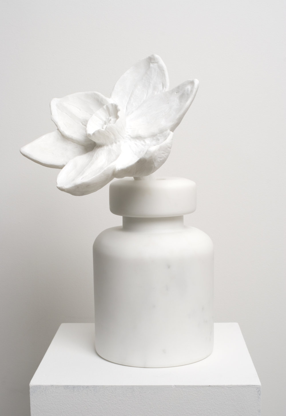 Object Petit a (Marble) , 2018  Bianco Carrara marble  27 x 18 x 10 inches
