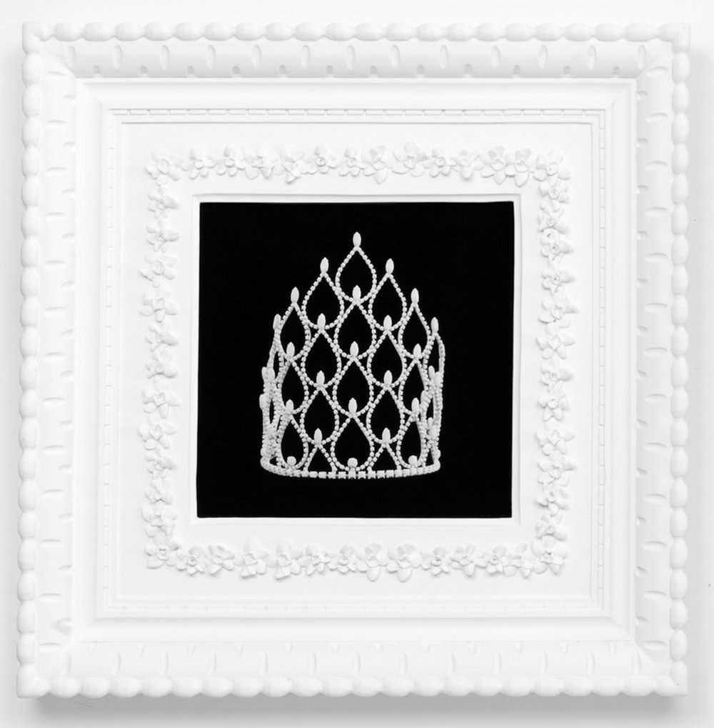 Small Dream Crown #2,  2009  Photograph in archival ink on watercolor paper, in artist's  Royal Narcissus Icing  frame  24 x 24 inches