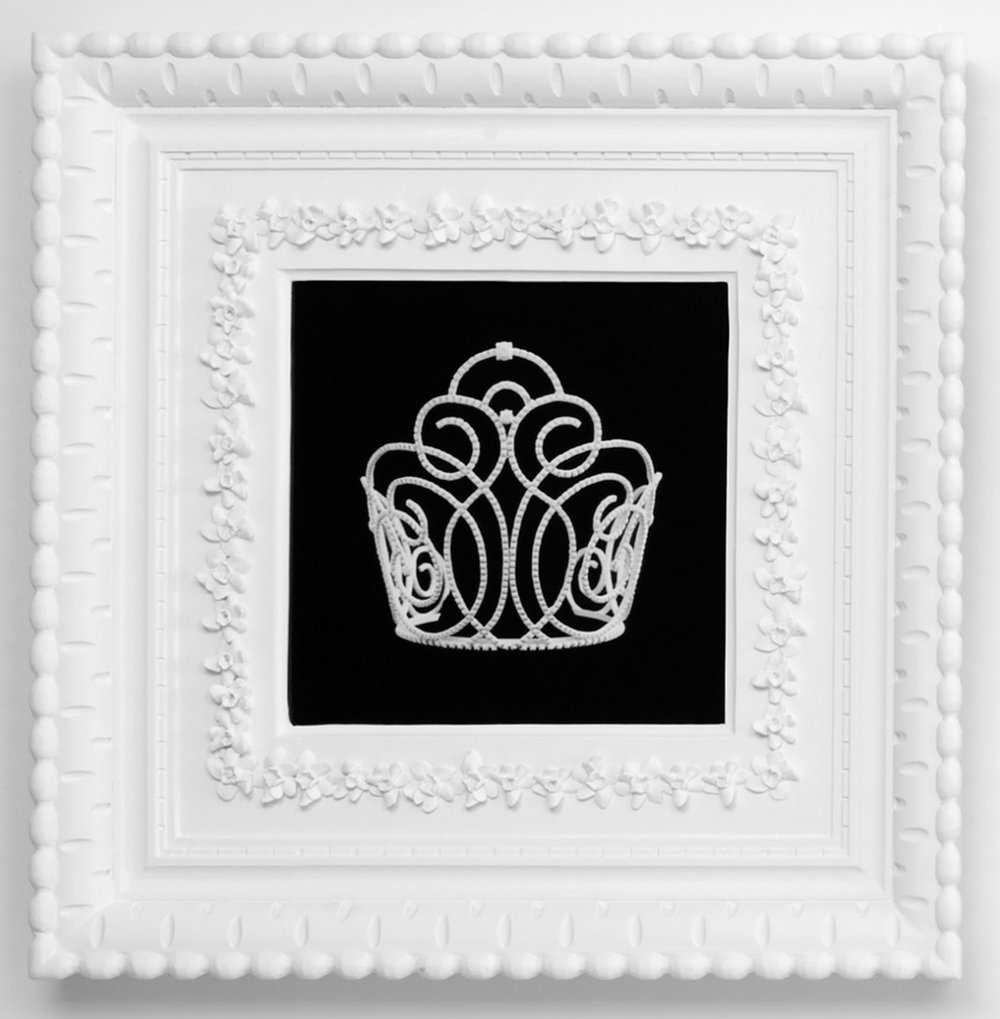 Small Dream Crown #1,  2009  Photograph in archival ink on watercolor paper, in artist's  Royal Narcissus Icing  frame  24 x 24 inches