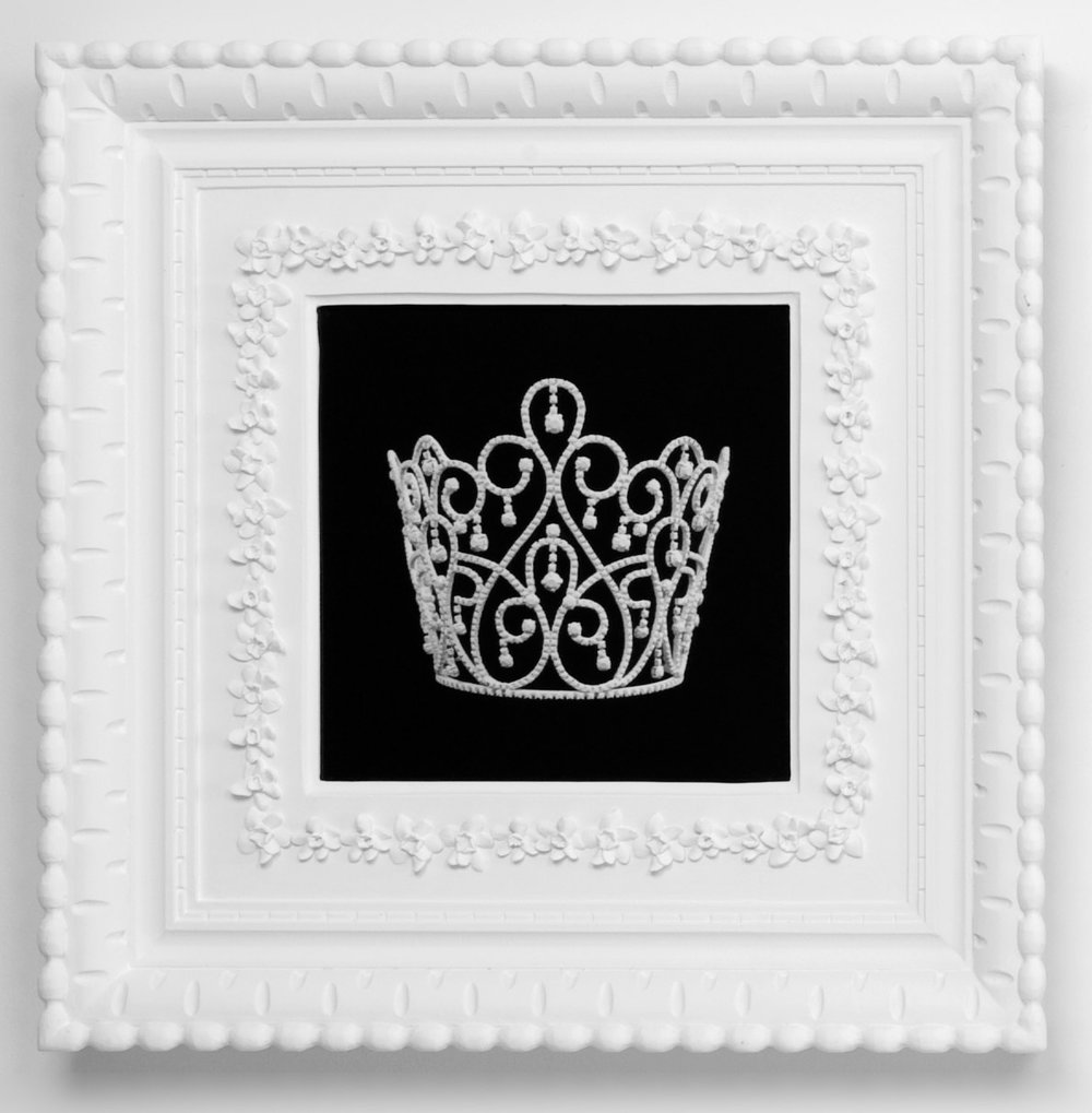 Small Dream Crown #4,  2009  Photograph in archival ink on watercolor paper, in artist's  Royal Narcissus Icing  frame  24 x 24 inches