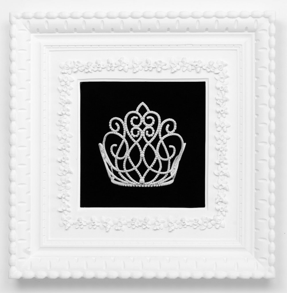 Small Dream Crown #5,  2009  Photograph in archival ink on watercolor paper, in artist's  Royal Narcissus Icing  frame  24 x 24 inches
